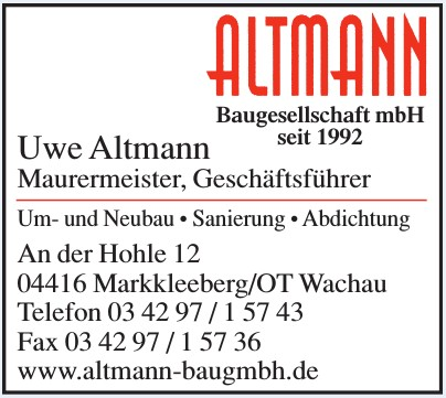 Uwe Altmann Maurermeister